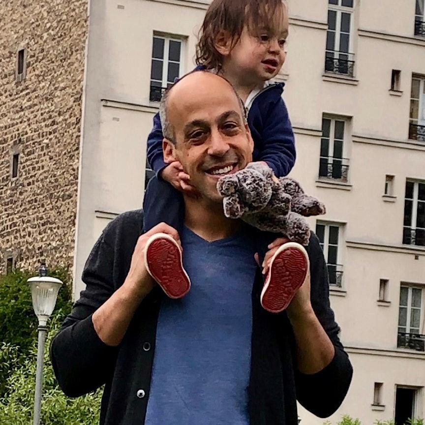 Dan Berwick with child