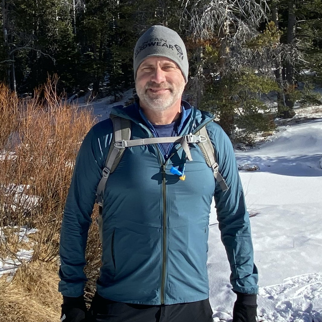 Mark Swanson in a snowy landscape